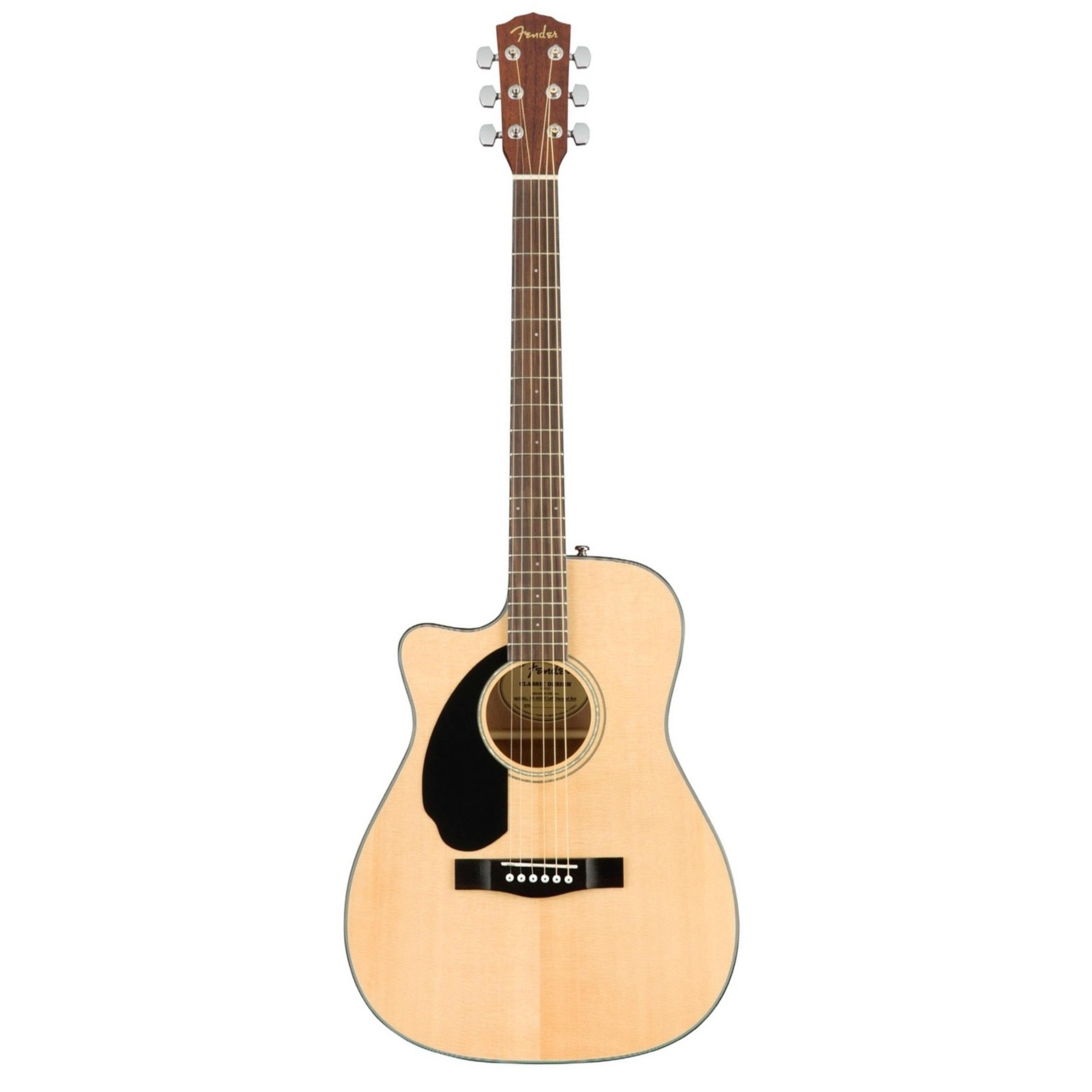 fender cc60sce left handed solid top concert electro acoustic guitar natural giggear. Black Bedroom Furniture Sets. Home Design Ideas