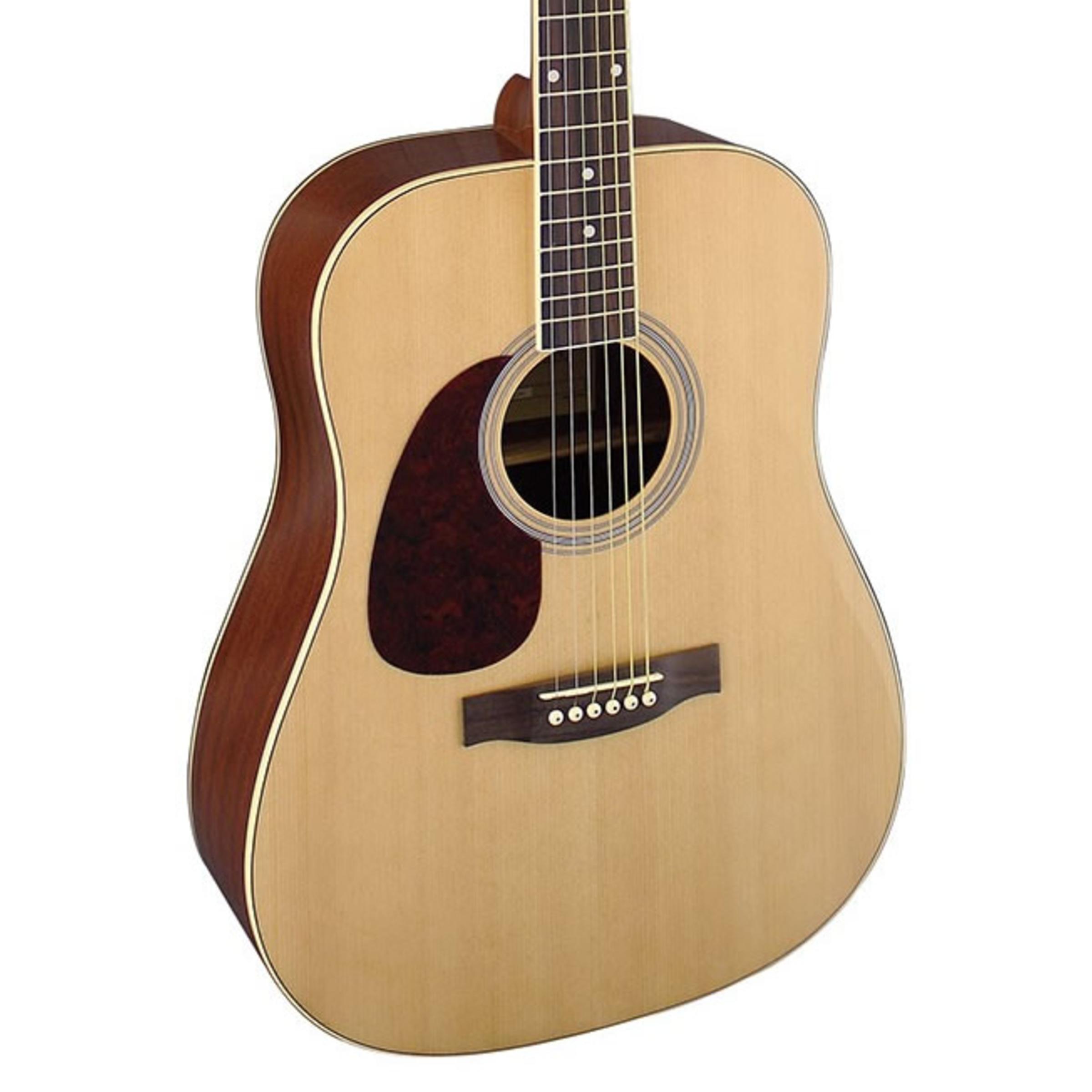 brunswick dreadnought left handed acoustic guitar natural giggear. Black Bedroom Furniture Sets. Home Design Ideas