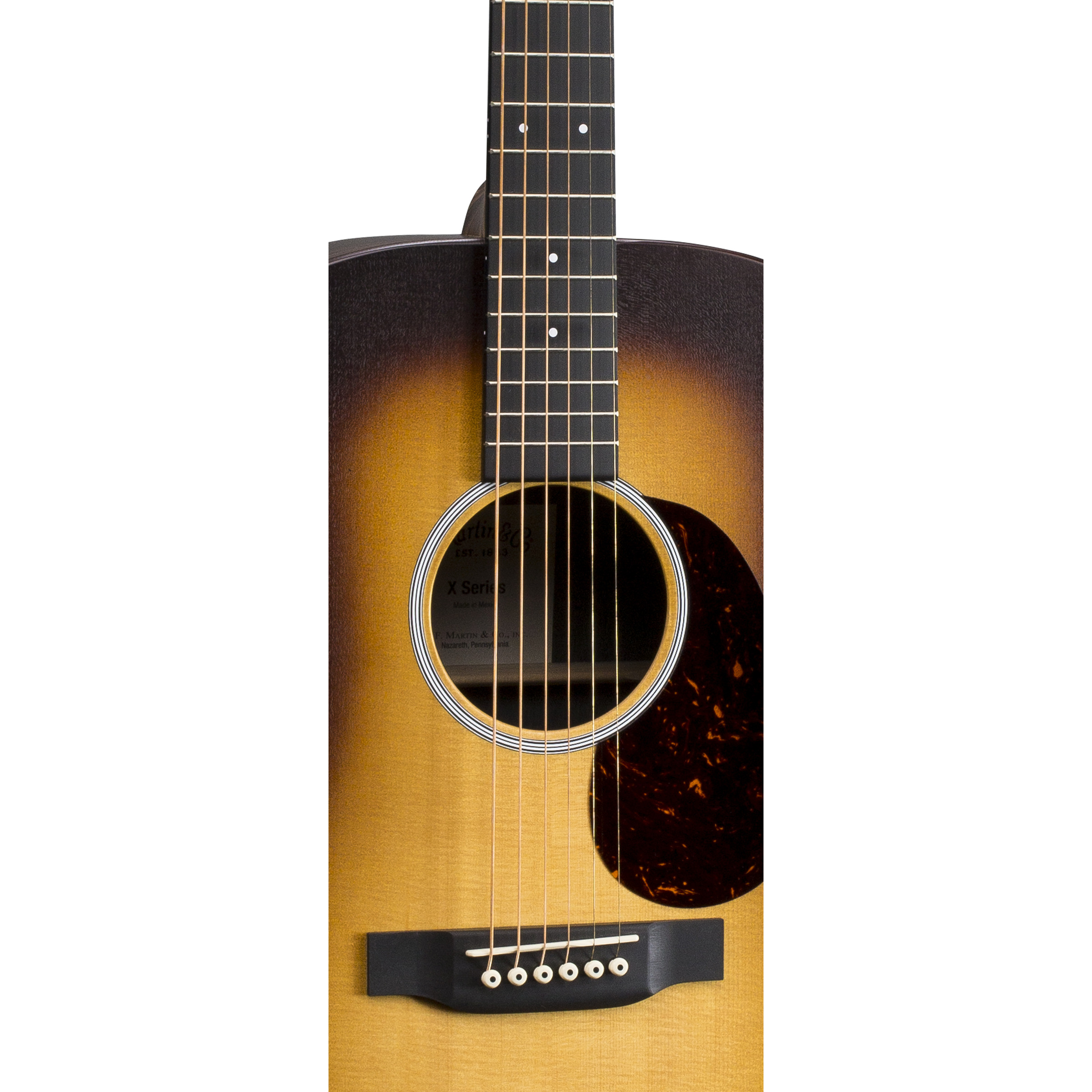 martin dx1ae macassar burst x series electro acoustic guitar giggear. Black Bedroom Furniture Sets. Home Design Ideas
