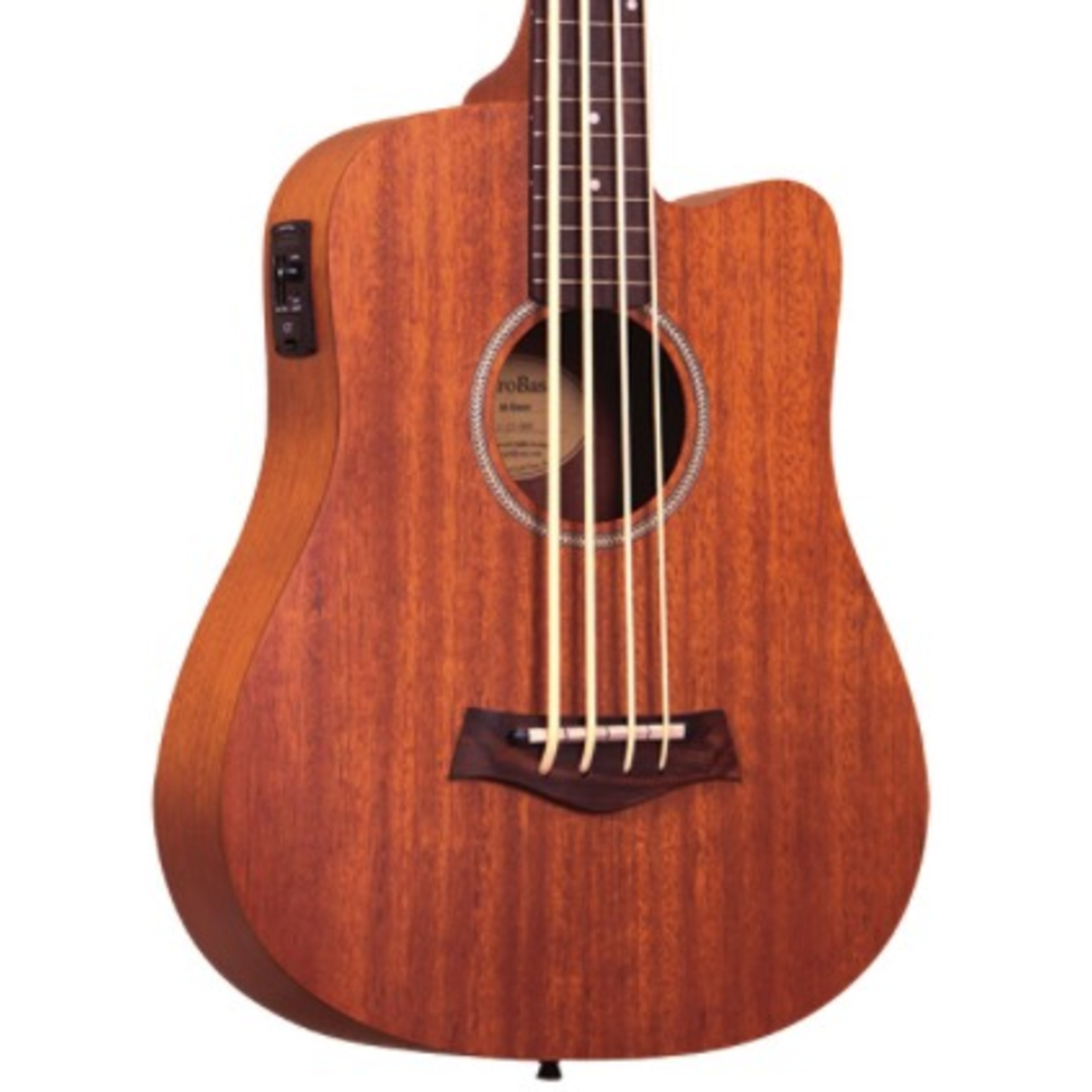 gold tone m bass electro acoustic fretless micro bass guitar giggear. Black Bedroom Furniture Sets. Home Design Ideas