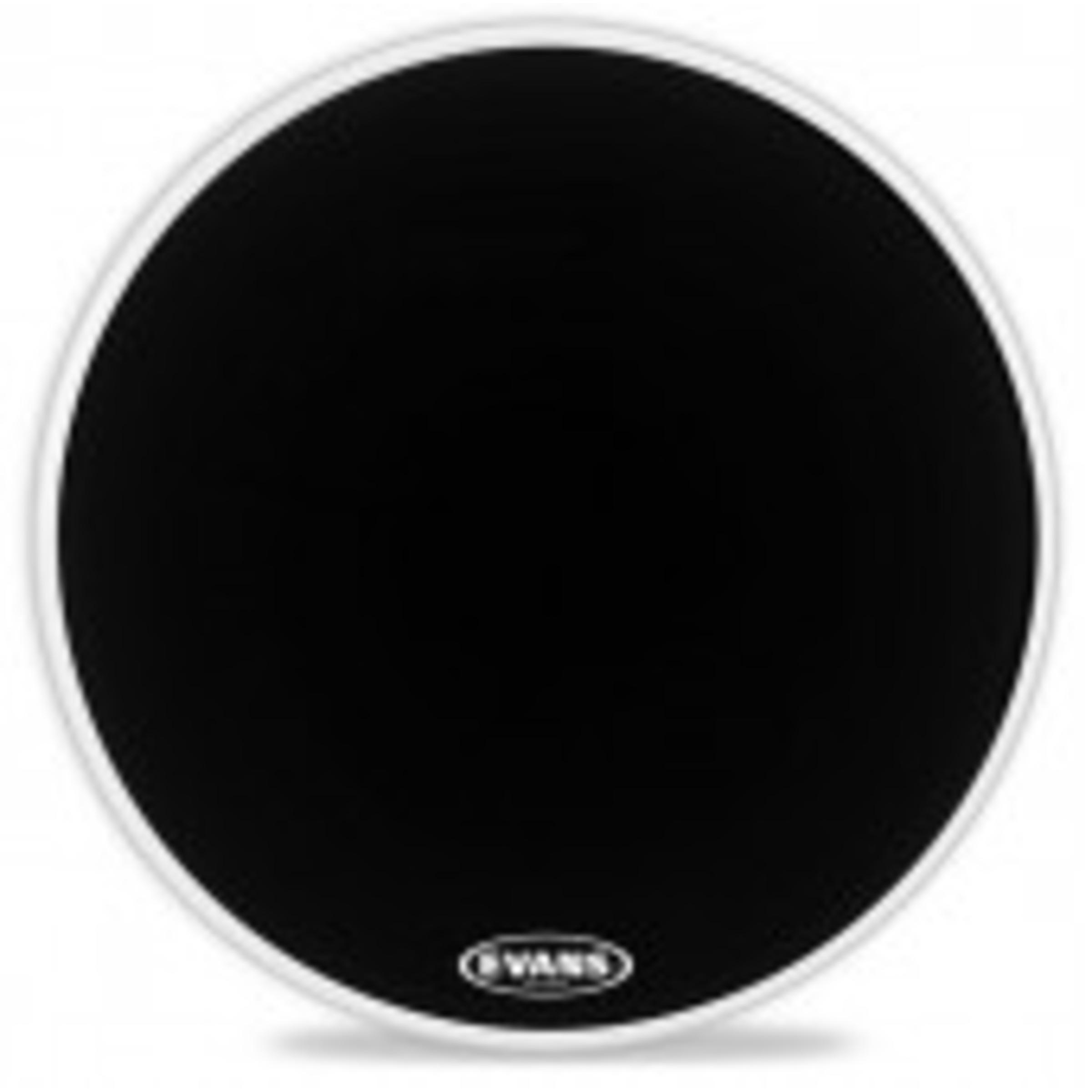 evans eq1 resonant black bass drum head giggear. Black Bedroom Furniture Sets. Home Design Ideas