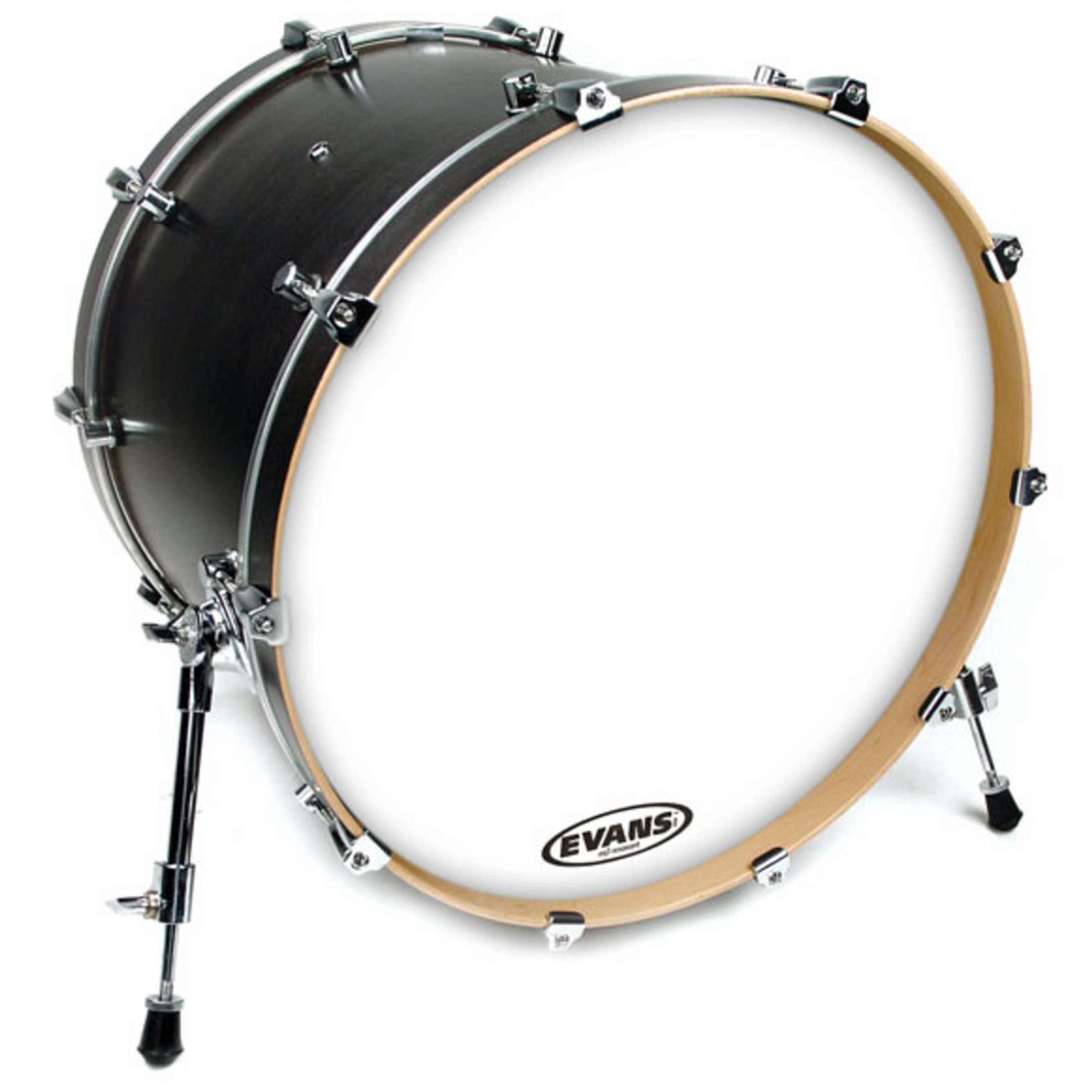 evans eq3 resonant coated white bass drum head no port giggear. Black Bedroom Furniture Sets. Home Design Ideas