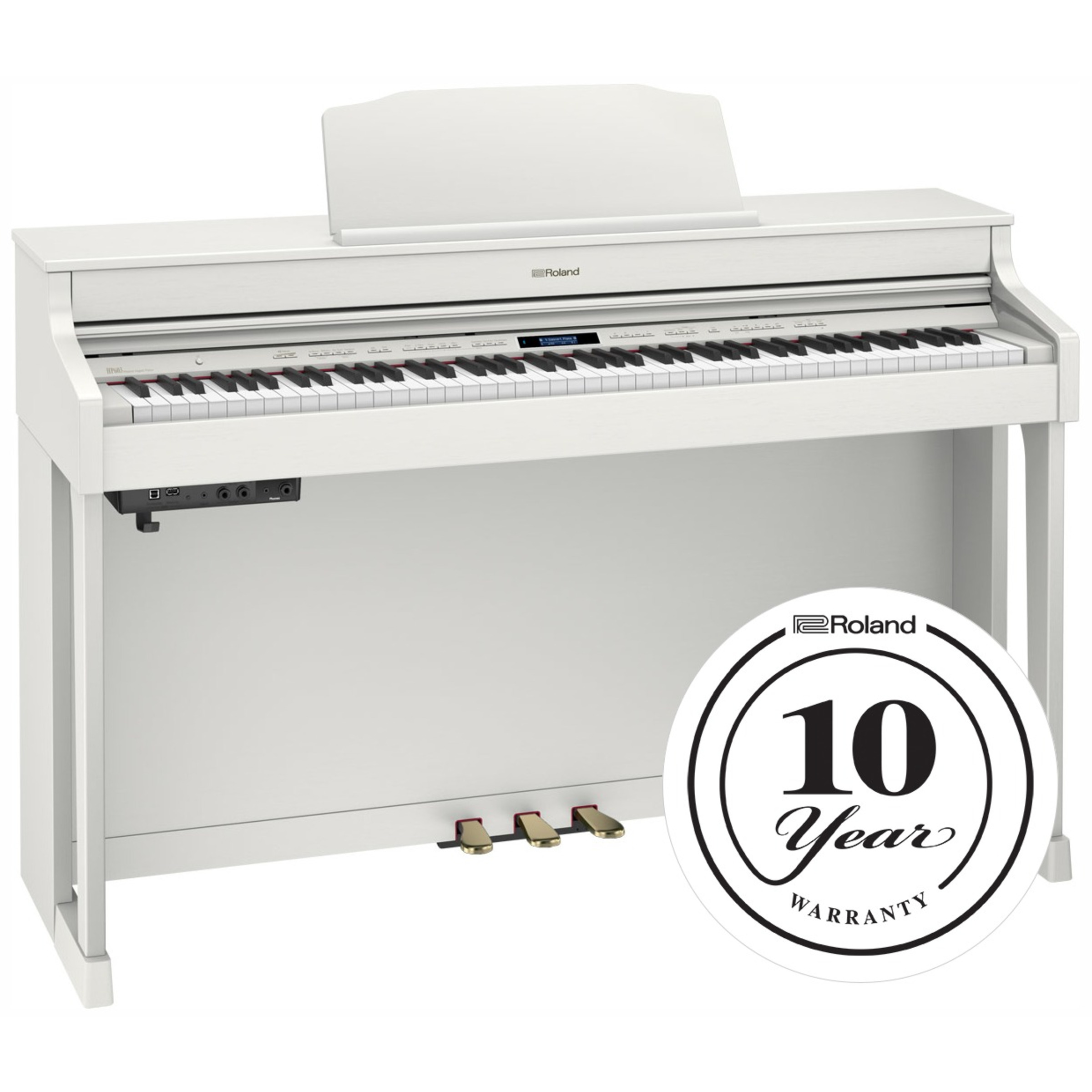 roland hp603a digital piano white display model giggear. Black Bedroom Furniture Sets. Home Design Ideas