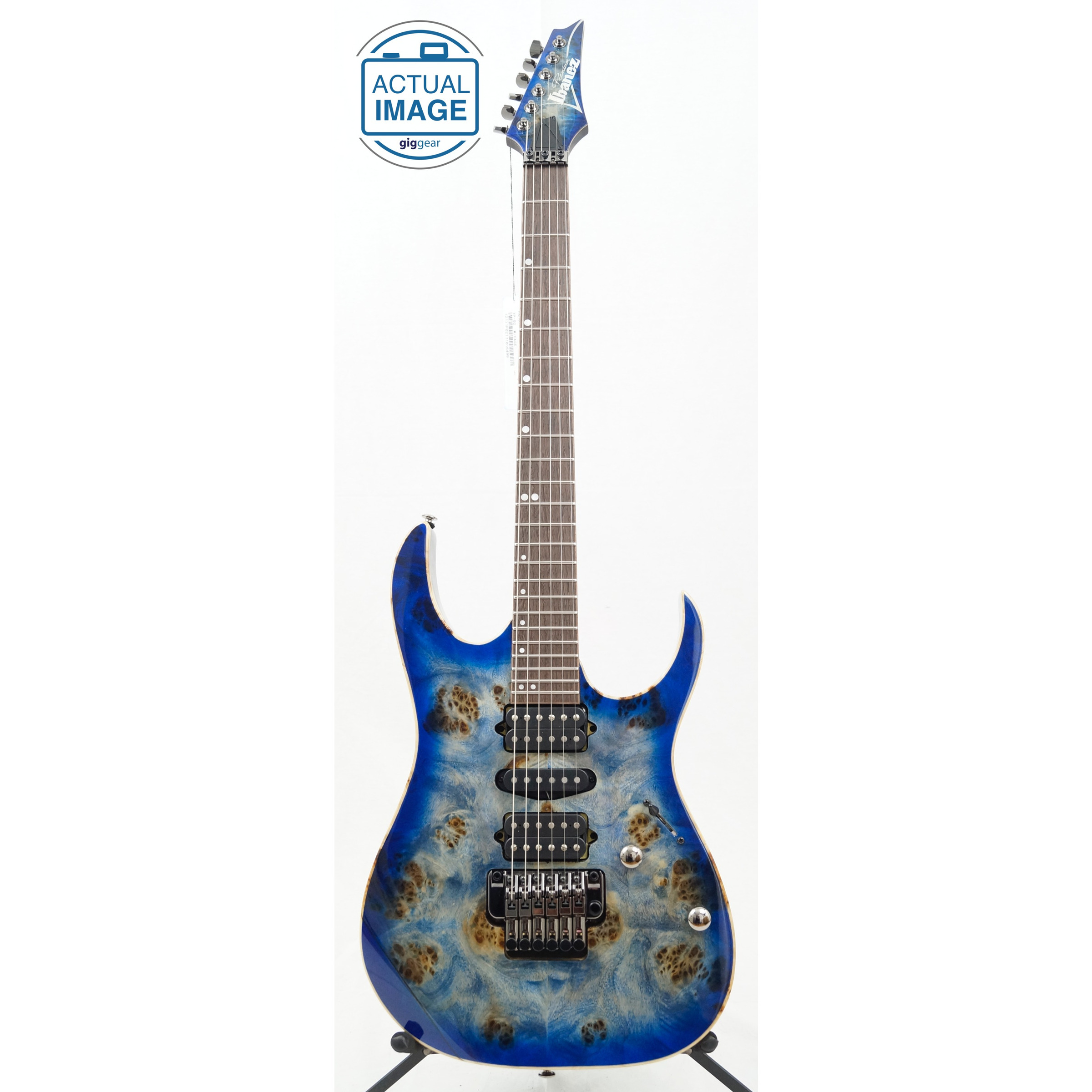 ibanez premium rg1070pbz electric guitar cerulean blue burst giggear. Black Bedroom Furniture Sets. Home Design Ideas