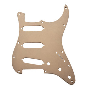 Fender Stratocaster 11 Hole Pickguard - 1 Ply Gold Anodized