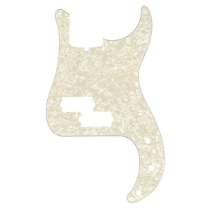 Fender P Bass Pickguard 13 Hole  - 3 Ply Aged White Pearl