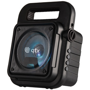 QTX Portable Bluetooth Party Speaker with Battery and Microphone