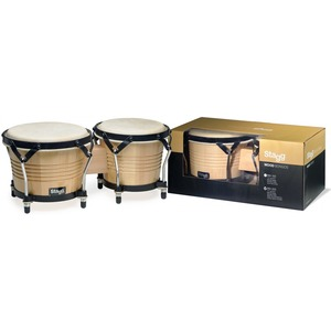 "Stagg Wood Bongo 7.5"" + 6.5"" - Natural"