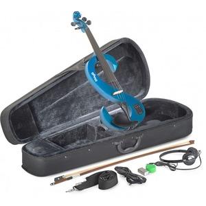 Stagg Electric Violin Kit - Electric Violin Kit - Metallic Blue