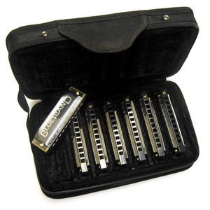 Hohner Blues Band 7 Piece Harmonica Set with Case