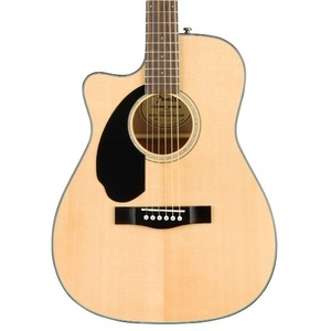 Fender CC60SCE LEFT HANDED Solid Top Concert Electro Acoustic Guitar - Natural