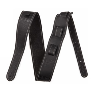 Fender Monogram Leather Guitar Strap - Black