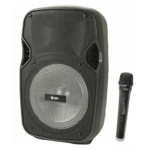 Qtx Pal8 Portable PA with Bluetooth, Wireless Mic & LED