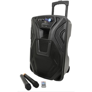 Qtx Busker 12 - Portable Battery PA Inc. Wireless Mics