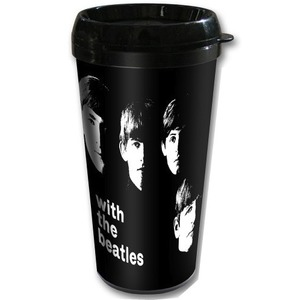 Official Beatles With the Beatles Travel Mug