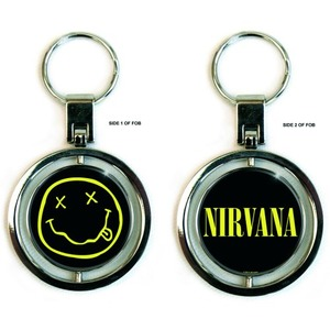 Official Nirvana Spinning Smiley Key Ring