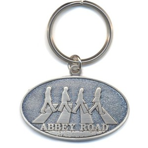 Official Beatles Abbey Road Crossing Oval Key Ring