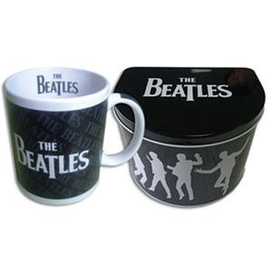 Official Beatles Mug in a Tin - Drop T Logo