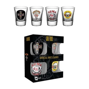 Official Guns N Roses Shot Glasses - Set of 4