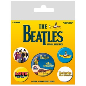 Official Beatles Badge Set - Yellow Submarine Set of 5