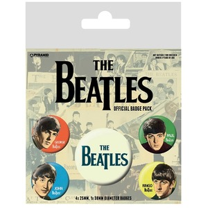 Official Beatles Badge Set - Set of 5