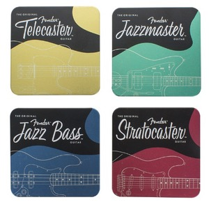 Official Fender Metal Coasters - Set of 6