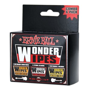 Ernie Ball Wonder Wipe Mix 6 Pack (1 Fbc, 3 Cleaner, 2 Polish)