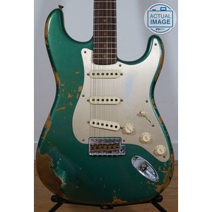 Fender Custom Shop Custom Shop 59 Heavy Relic Strat - Aged Sherwood Green Metallic