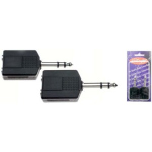 Stagg Stereo Male Jack - Dual Female Jack Adaptor - 2 Pack