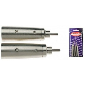 Stagg Male XLR - Male RCA Adaptor - 2 Pack