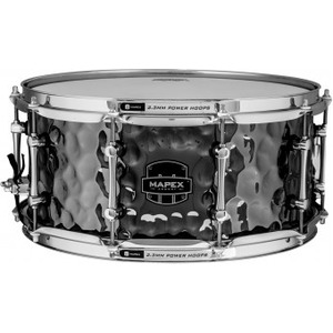 "Mapex Daisy Cutter Armory Series 14"" x 6.5"" Hammered Steel Snare"