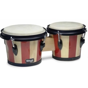 "Stagg Wood Bongo 7.5"" + 6.5"" -in Two Tone Finish"