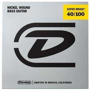 Jim Dunlop Super Bright Nickel Wound Bass Strings - Light 40-100