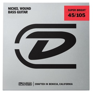 Jim Dunlop Super Bright Nickel Wound Bass Strings - Medium 45-105