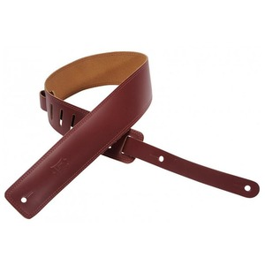 "Levy's 2.5"" Leather Double Stitched Strap - Burgundy"