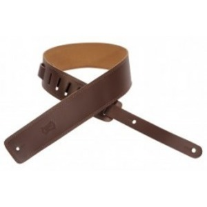 "Levy's 2.5"" Leather Double Stitched Strap - Brown"