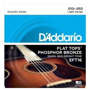D'addario EFT16 Flat Tops Light - 12-53