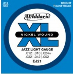 D'addario EJ21 Jazz Electric Guitar Strings - 12-52