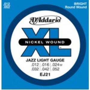 D'addario EJ21 Jazz Electric Guitar Strings - 12-52