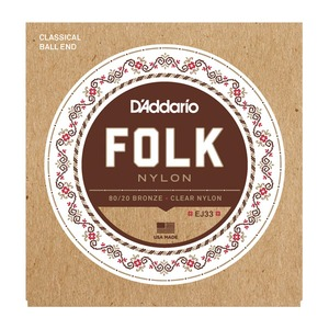 D'addario EJ33 Folk Nylon Guitar Strings