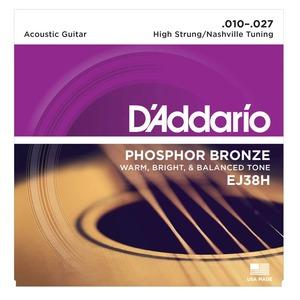 D'addario EJ38H High Strung Nashville Tuning - 10-27 PHOSPHOR Bronze