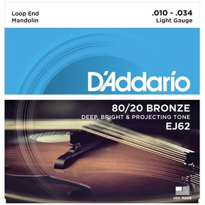 D'addario Mandolin Light 80/20 Bronze