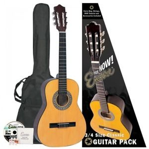 Encore 3/4 size Classical Guitar And Bag