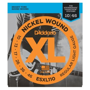 D'addario ESXL110 Steinberger Double Ball End Strings - 10-46