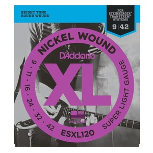 D'addario ESXL120 Steinberger Double Ball End Strings - 9-42