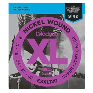 D'addario ESXL120 Steinberger Double Ball End Strings - 9-42