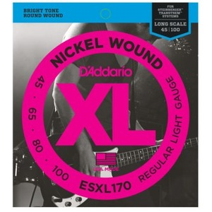 D'addario ESXL170 Steinberger Double Ball End Bass Strings - 45-100