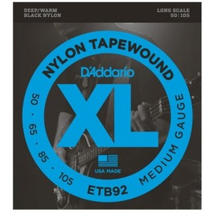 D'addario ETB92 Black Nylon Tapewound Bass Strings - 50-105