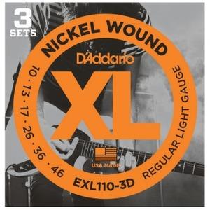D'addario EXL110-3D Electric Guitar Strings 10-46 - 3 Sets