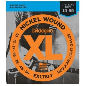 D'addario EXL110-7 7 String Guitar Strings - 10-59